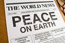 World news peace on earth