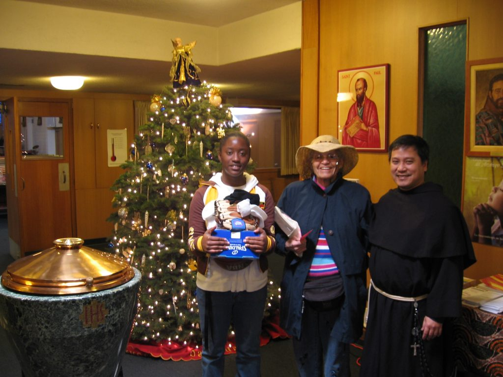 Friar Tammy Lee helps bring Christ into Christmas.